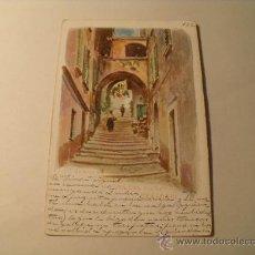 Postales: POSTAL DE BELLAGIO, ITALIA. ESCRITA EN ESPAÑOL SON SELLO ALFONSO XIII. CIRCULADA 1904. POSTAL 1006. Lote 24080418
