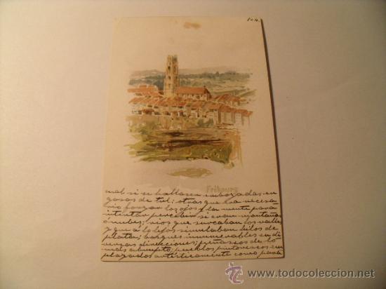 POSTAL DE FRIBOURG SUIZA. EN CASTELLANO CON SELLO DE ALFONSO XIII. CIRCULADA 1904. POSTAL 1014 (Postales - Postales Temáticas - Arte)
