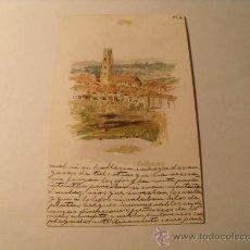 Postales: POSTAL DE FRIBOURG SUIZA. EN CASTELLANO CON SELLO DE ALFONSO XIII. CIRCULADA 1904. POSTAL 1014. Lote 24091301