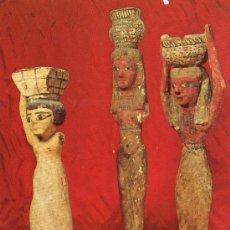 Postales: POSTAL MUY RARA DE ESTATUILLAS EGIPCIAS DE SIERVAS MUSEO DE MONTSERRAT SIN CIRCULAR. Lote 27397120