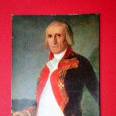 Postales: GENERAL URRUTIA, DETALLE. FRANCISCO DE GOYA (1746 - 1828) Nº 372. LA POLÍGRAFA, D.L. B-34623-XII. Lote 24720485