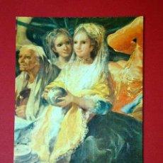 Postales: EL CACHARRERO, DETALLE. FRANCISCO DE GOYA (1746 - 1828) Nº 376. LA POLÍGRAFA, D.L. B-34627-XII. Lote 24720605