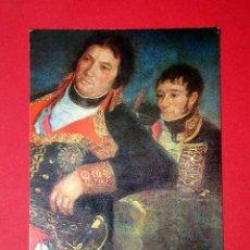 Postales: RETRATO DE GODOY, DETALLE. FRANCISCO DE GOYA (1746 - 1828) Nº 377. LA POLÍGRAFA, D.L. B-34628-XII. Lote 24720661