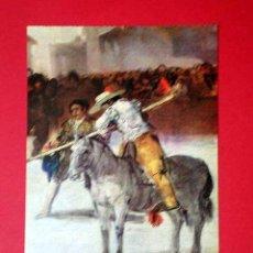 Postales: CORRIDA DE TOROS, DETALLE. FRANCISCO DE GOYA (1746 - 1828) Nº 378. LA POLÍGRAFA, D.L. B-34629-XII. Lote 24720725