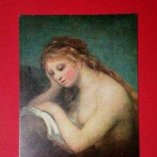 Postales: MUJER LEYENDO. FRANCISCO DE GOYA (1746 - 1828) Nº 381. LA POLÍGRAFA, D.L. B-34632-XII. Lote 24720814