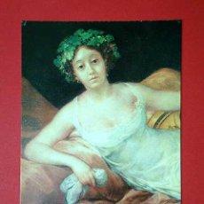 Postales: MARQUESA DE SANTA CRUZ. FRANCISCO DE GOYA (1746 - 1828) Nº 383. LA POLÍGRAFA, D.L. B-34634-XII. Lote 24720874