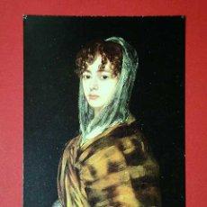 Postales: SRA. SABASA GARCÍA. FRANCISCO DE GOYA (1746 - 1828) Nº 384. LA POLÍGRAFA, D.L. B-34635-XII. Lote 24720925