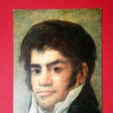 Postales: FRANCISCO DEL MAZO. FRANCISCO DE GOYA (1746 - 1828) Nº 386. LA POLÍGRAFA, D.L. B-34637-XII. Lote 24720949