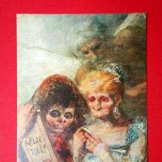 Postales: VIEJAS ANTE ESPEJO, DETALLE. FRANCISCO DE GOYA (1746 - 1828) Nº 388. LA POLÍGRAFA, D.L. B-34639-XII. Lote 24720999