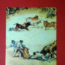 Postales: TOROS DE BURDEOS, DETALLE. FRANCISCO DE GOYA (1746 - 1828) Nº 389. LA POLÍGRAFA, D.L. B-34640-XII. Lote 24721056