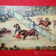 Postales: TOROS DE BURDEOS, DETALLE. FRANCISCO DE GOYA (1746 - 1828) Nº 390. LA POLÍGRAFA, D.L. B-34641-XII. Lote 24721072