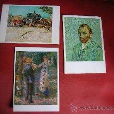 Postales: 2 VAN GOGH 1 AUGUSTE RENOIR. Lote 26172717