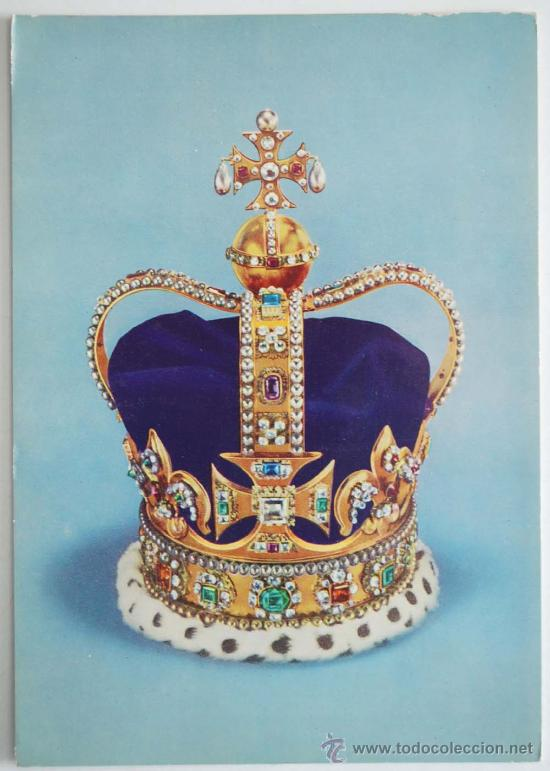 POSTAL. ST. EDWARD´S CROWN. THE CROWN OF ENGLAND. MADE FOR KING CHARLES II. (Postales - Postales Temáticas - Arte)