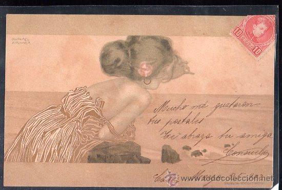 TARJETA POSTAL DE RAPHAEL KIRCHNER. (Postales - Postales Temáticas - Arte)