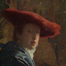 Postales: POST CARD NATIONAL GALLERY OF ART WASHINGTON THE GIRL WITH A RED HAR BY VERMEER NUEVA . Lote 26682095