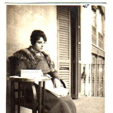 Postales: POSTAL DE TEATRO CATALAN - P. SAMPERE - 8 DE FEBRERO DE 1920 - DE LEONAR. Lote 26704531