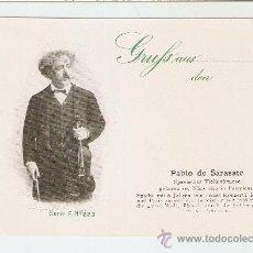 Postales: PABLO DE SARASATE - SPANISCHER VIOLINVIRTUOSE -COLLECTION DAS GROSSE JAHRHUNDERT. Lote 26979724