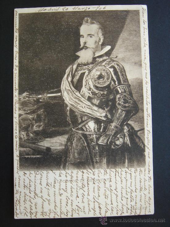 Postales: EL CONDE DE BENAVENTE. CIRCULADA, ESCRITA Y CON SELLO 10 CTS DE ALFONSO XIII (20-V-06) - Foto 1 - 27171159