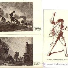 Postales: LOTE 3 POSTALES MUSEO DE VALENCIA, PINTURAS DE FRANCISCO DE GOYA. Lote 27195146