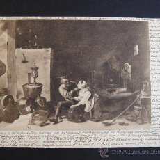 """Postales: """"LA GRACIOSA FREGATIZ. TENIERS"""". CIRCULADA, ESCRITA Y CON SELLO 10 CTS DE ALFONSO XIII (7-V-06). Lote 27202241"""