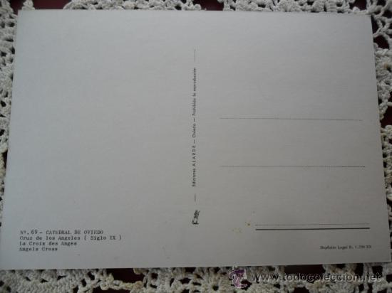 Postales: CATEDRAL DE OVIEDO - CRUZ DE LOS ANGELES - Foto 2 - 27223056