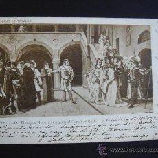 """Postales: """"OBRAS DE ROSALES"""". CIRCULADA, ESCRITA Y CON SELLO DE 10 CTS DE ALFONSO XIII (17-X-02). Lote 27235413"""