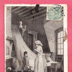 Postales: ANTIGUA POSTAL - ESTAMPAS FRANCESAS DEL SIGLO XVIII - CIRCULADA EN 1906. Lote 27808788
