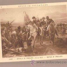 Postales: ANTIGUA POSTAL MUSEE DE VERSAILLES VERNET BATAILLE DE FRIEDLAND BRAUN CIE. Lote 28253047
