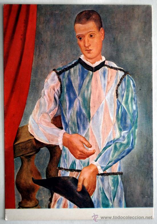 POSTAL BARCELONA MUSEO PICASSO. ARLEQUIN. BARCELONA 1917. OLEO SOBRE LIENZO. (Postales - Postales Temáticas - Arte)