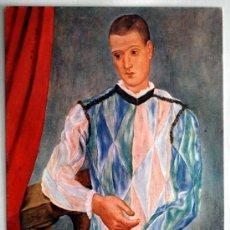 Postales: POSTAL BARCELONA MUSEO PICASSO. ARLEQUIN. BARCELONA 1917. OLEO SOBRE LIENZO.. Lote 28295038