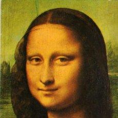Postales: ARTE RENACIMIENTO LA GIOCONDA LEONARDO DA VINCI MUSEO LOUVRE COLECCIÓN PERLA ESCRITA CIRCULADA SELLO. Lote 28511721