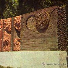 Postales: ESCULTURA DE J. MARIA SUBIRACHS MUSEO EN EL PEDREGAL ESCRITA CIRCULADA SIN SELLO. Lote 57145333
