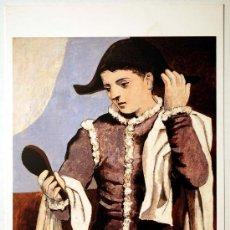 Postales: POSTAL MUSEO THYSSEN BORNEMISZA. ARLEQUIN CON ESPEJO. PABLO PICASSO.. Lote 29061472