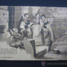 """Postales: """"DON QUIJOTE. PARTE PRIMERA. CAP III"""". CIRCULADA, ESCRITA Y CON SELLO 10 CTS ALFONSO XIII (14-7-07. Lote 29072609"""
