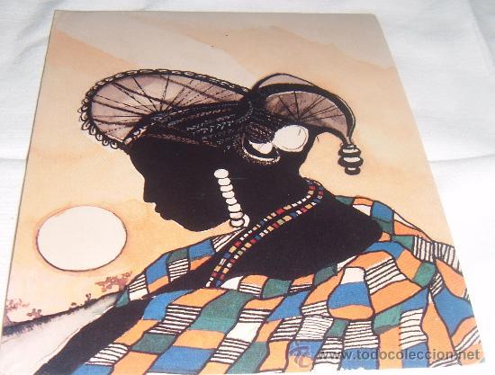 POSTAL DE UNA ACUARELA ORIGINAL DEL ARTISTA MOMODOU CEESAY (Postales - Postales Temáticas - Arte)