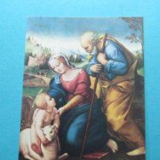 Postales: RAFAEL. SAGRADA FAMILIA DEL CORDERO. MUSEO DEL PRADO. EDICIONES BARSAL. Lote 29271309