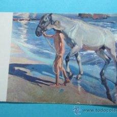 Postales: SOROLLA. EL BAÑO DEL CABALLO. Lote 29271345