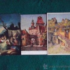 Postales: POSTALES-ARTE-SIN ESCRIBIR Y ESCRITA . Lote 29368624
