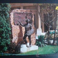 Postales: MONUMENTO AL PINTOR FORTUNY. REUS. TARRAGONA. OBRA DE BENLLIURE. CIRCULADA, ESCRITA Y FECHADA.. Lote 29678391