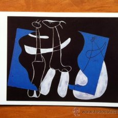Postales: POSTAL - JOAN MIRO . TRES PERSONAJES SOBRE FONDO NEGRO . MUSEO ARTE MODERNO VILLENEUVE D´ASCQ 1990. Lote 29695450