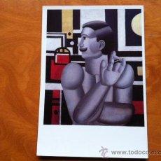Postales: POSTAL - FERNAND LEGER . EL MECANICO . MUSEO DE ARTE MODERNO VILLENEUVE D´ASCQ 1990. Lote 29695470