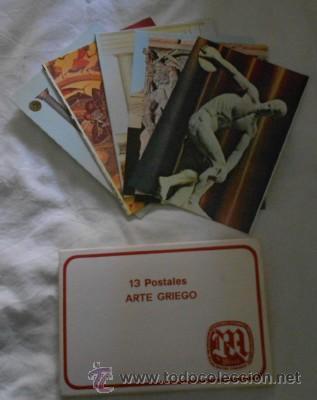LOTE DE 13 POSTALES DE ARTE GRIEGO, DE MIREL (Postales - Postales Temáticas - Arte)