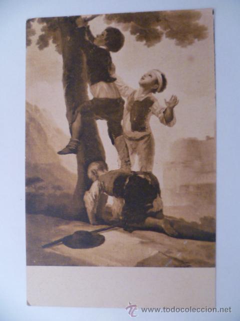 CUADROS CÉLEBRES; LOS MUCHACHOS TREPANDO AL ARBOL, EL PELELE, SERIE II, Nº6 (Postales - Postales Temáticas - Arte)