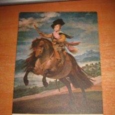 Postales: EL INFANTE BALTASAR CARLOS MUSEO DEL PRADO 1180 VELAZQUEZ. Lote 31713862