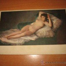 Postales: LA MAJA DESNUDA MUSEO DEL PRADO 742 GOYA. Lote 31713900