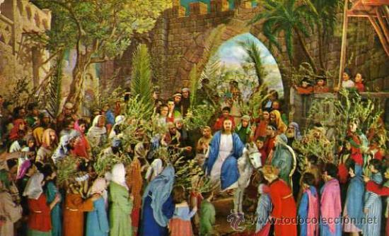 Resultado de imagen para entrada triunfal en jerusalen
