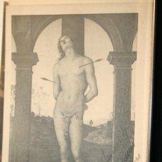Postales: POSTAL PERUGINO. SAN SEBASTIAN. MUSEO DEL LOUVRE. CIRCULADA 1904. Lote 31737106