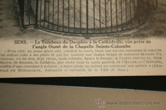 Postales: POSTAL SENS. LA TUMBA DEL DELFIN EN LA CATEDRAL. SIN CIRCULAR. - Foto 2 - 31735282