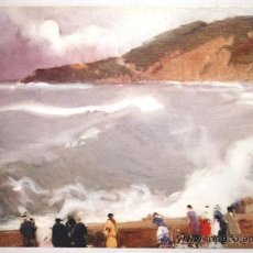 Postales: POSTAL JOAQUIN SOROLLA BASTIDA. TORMENTA EN SAN SEBASTIAN 1917. MUSEO SOROLLA-MADRID.. Lote 32567662