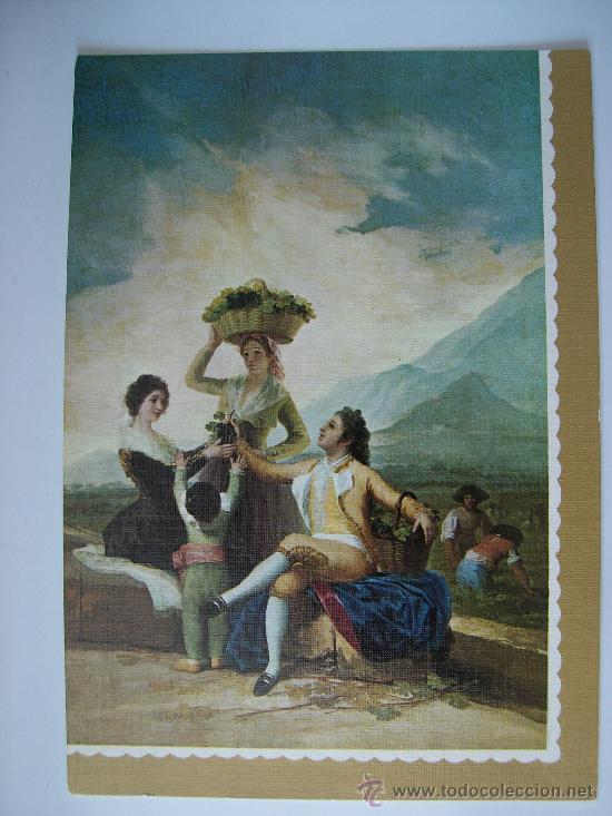 3 POSTALES -- GOYA - LA VENDIMIA (LAS OTRAS SE VEN EN FOTOS ADJUNTAS) (Postales - Postales Temáticas - Arte)